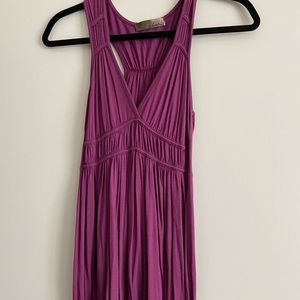 Lush babydoll racer back stretch dress